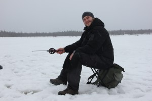 I would take ice fishing over a day in the office any time, even though you're also just sitting around. But damn, once you get a fish…